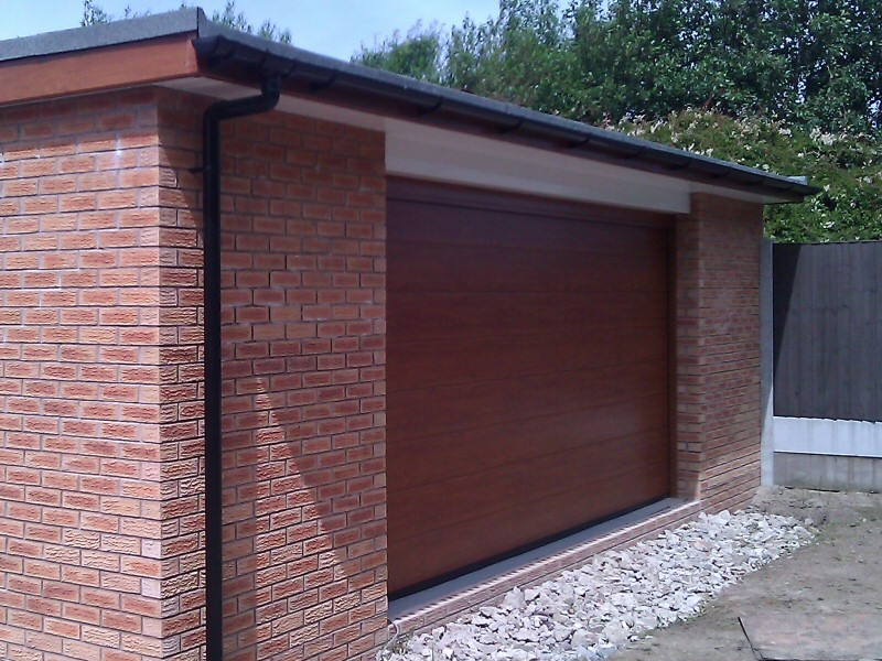 Photo - Automated Door (1 of 1) - Automated sectional garage door fitted to a newly built garage in Cleveleys. - Garage Doors - Home - © J C Joinery