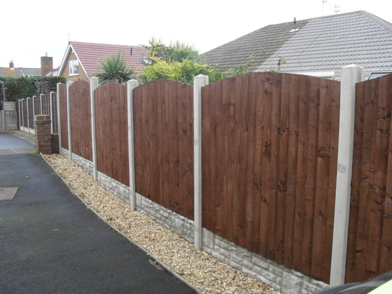 Photo - Fence Panels (1 of 1) - A section of closeboard arch fencing panels fitted for a Thornton property. - Other Joinery and Building Work - Home - © J C Joinery