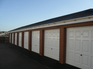 Photo - Glass fibre up and over residential garages at Admirals Sound, Thornton Cleveleys