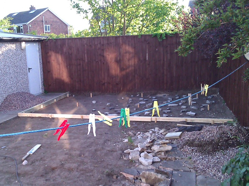 Photo - Outside Office (1 of 7) - Garden in the Blackpool area excavated in preparation for a log cabin to be used as an outside office. - Log Cabins - Home - © J C Joinery
