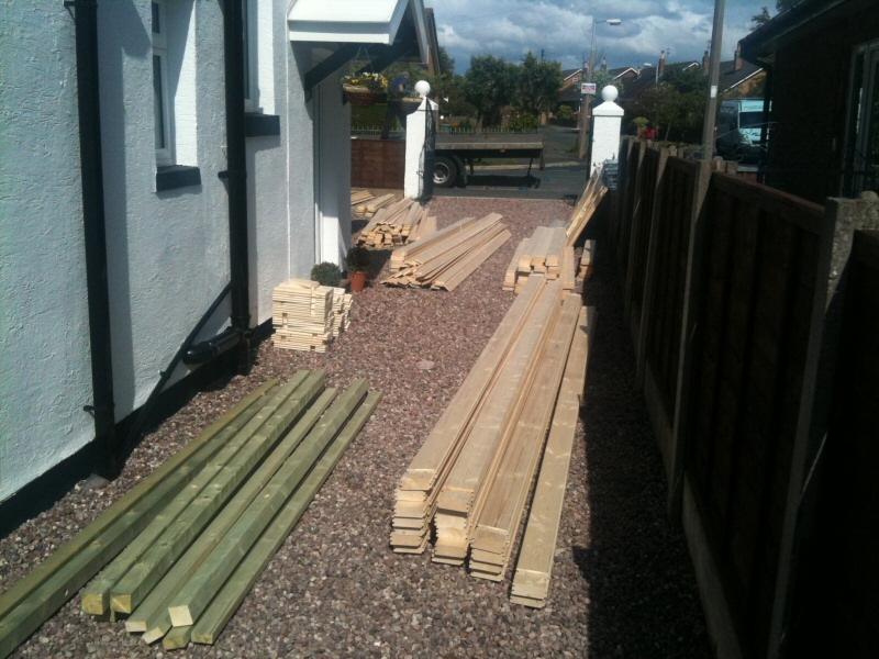 Photo - Outside Office (3 of 7) - The parts are delivered ready for assembly, along with a two sheet instruction manual. - Log Cabins - Home - © J C Joinery