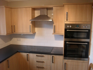 Photo - Fitted kitchen with solid oak units for Fleetwood customer